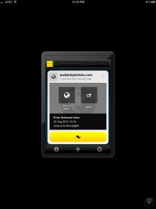 Chirp Receiving Link Screen