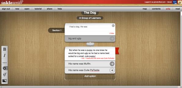 Inklewriter Screenshot 4