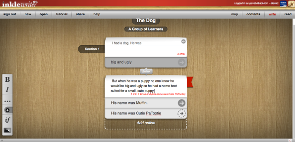 Inklewriter Screenshot 4