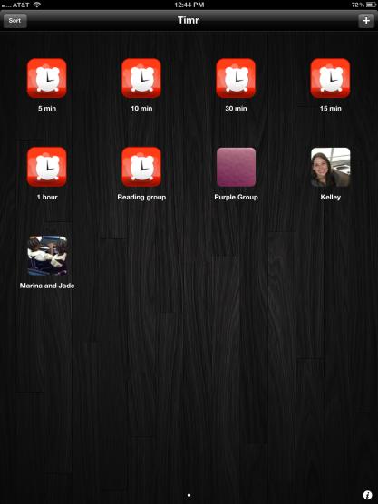 Timr App Screen