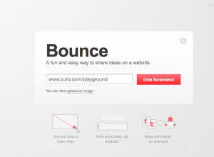 Bounce main page